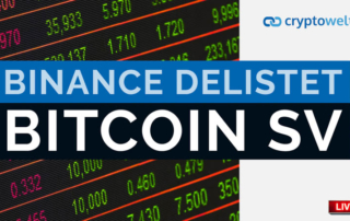 Binance delistet Bitcoin SV