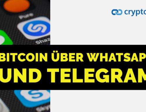 Bitcoin über Whatsapp und Telegram