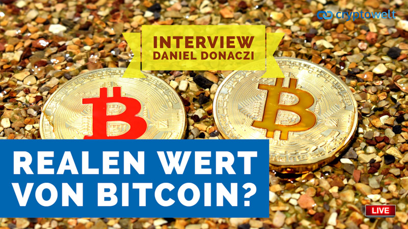 Realer Wert Bitcoin